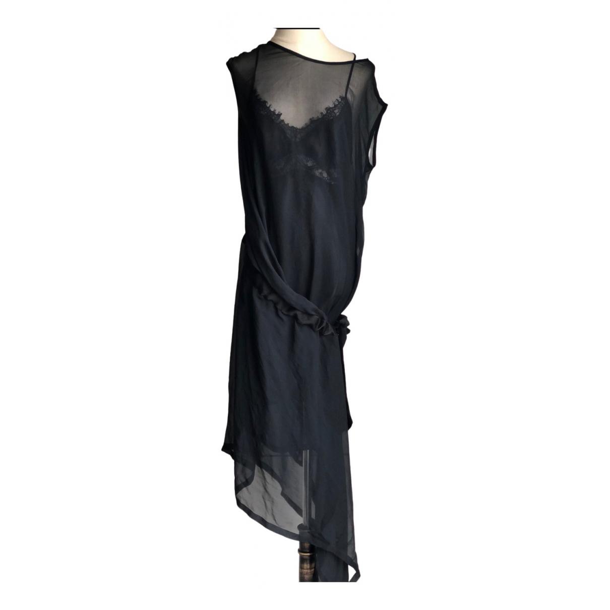 Ann Demeulemeester - Robe   pour femme en soie - noir