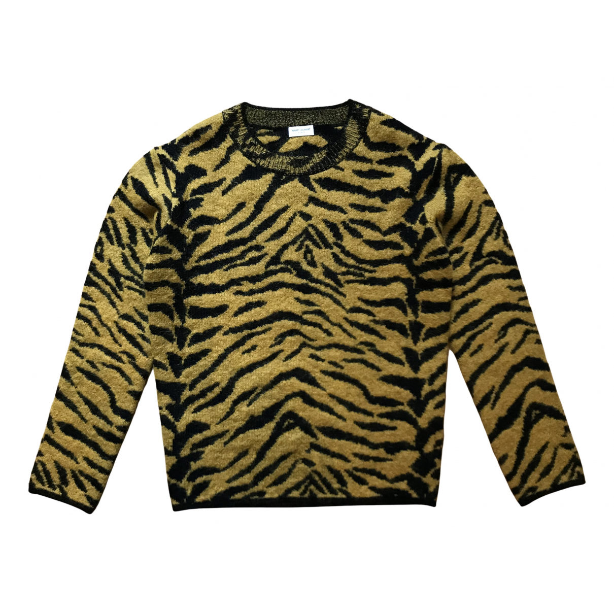 Saint Laurent \N Pullover.Westen.Sweatshirts  in  Metallic Wolle