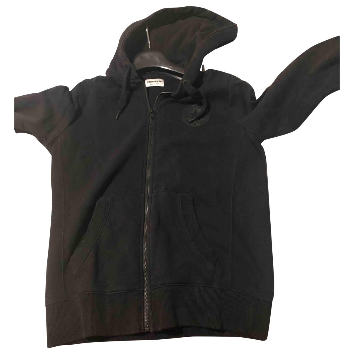 Converse - Pull   pour enfant en coton - noir