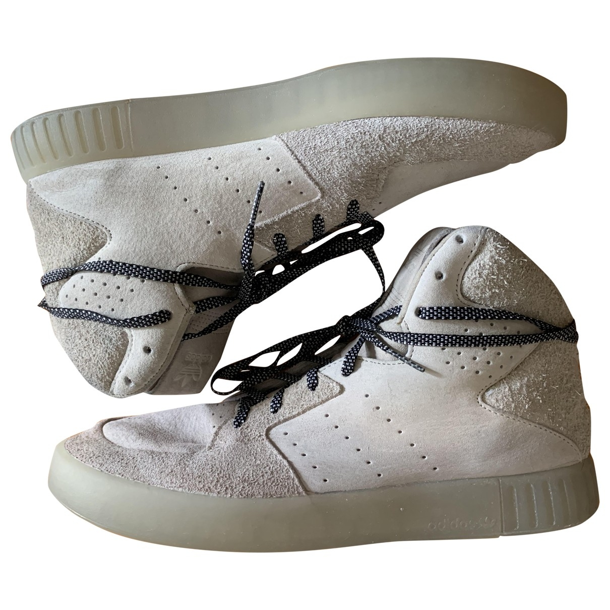 Adidas - Baskets Tubular pour homme en suede - beige