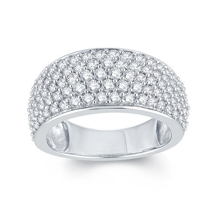 LIMITED QUANTITIES 2 CT. T.W. Diamond 14K White Gold Anniversary Ring, 7 , No Color Family