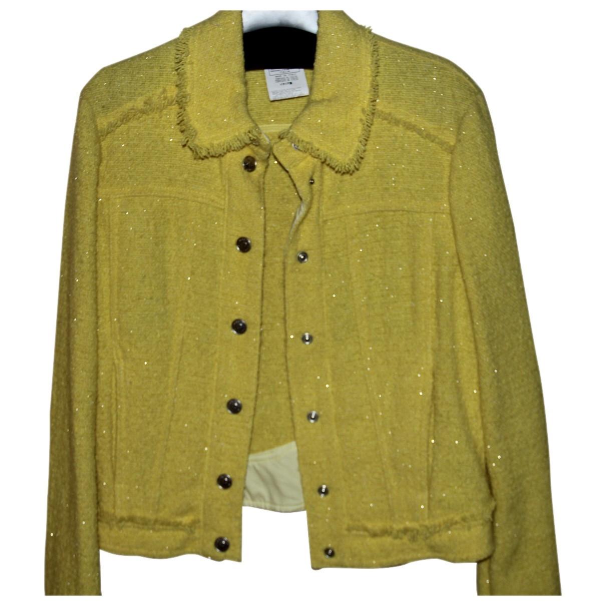 Versace Jeans \N Yellow Wool jacket for Women 36 FR