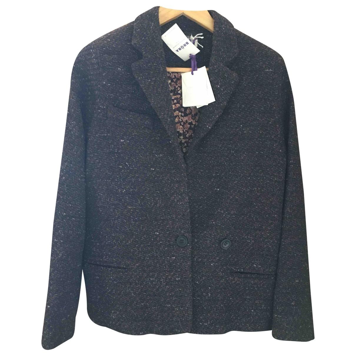 Brora \N Brown Wool jacket for Women 10 UK