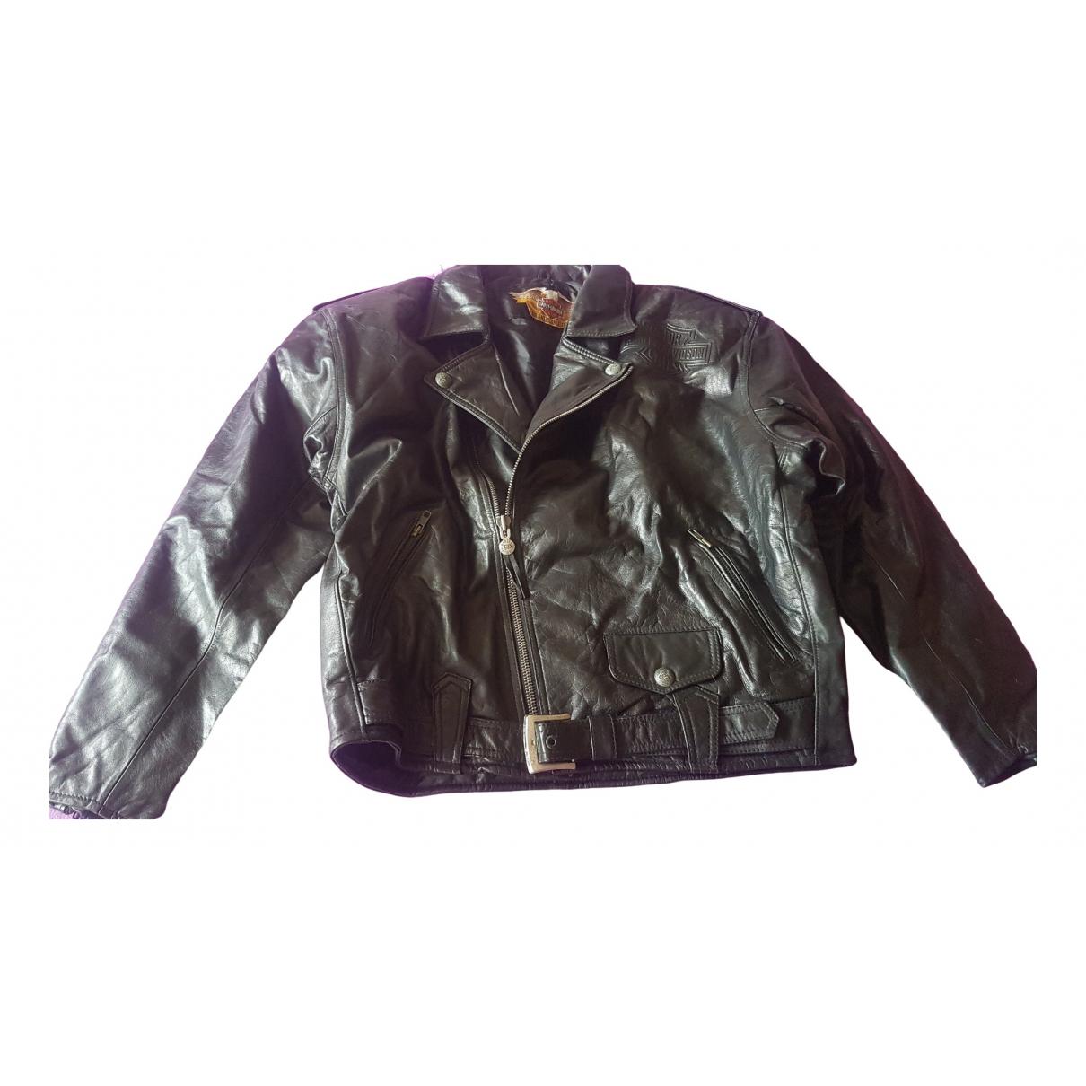 Non Signé / Unsigned \N Black Leather jacket  for Men L International