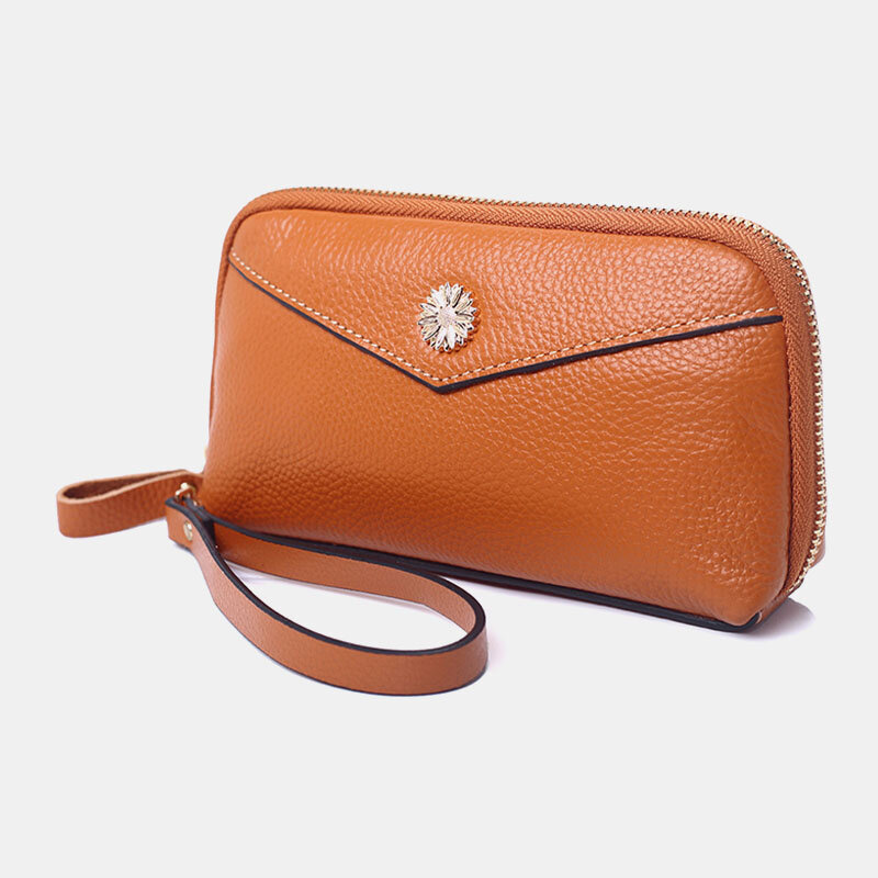 Women PU Leather 3 Card Slots 6.3 inch Phone Bag Money Clip Wallet