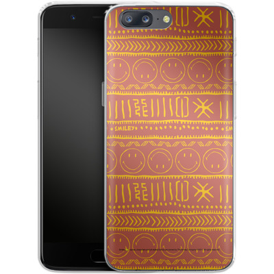 OnePlus 5 Silikon Handyhuelle - Tribal Orange von Smiley®
