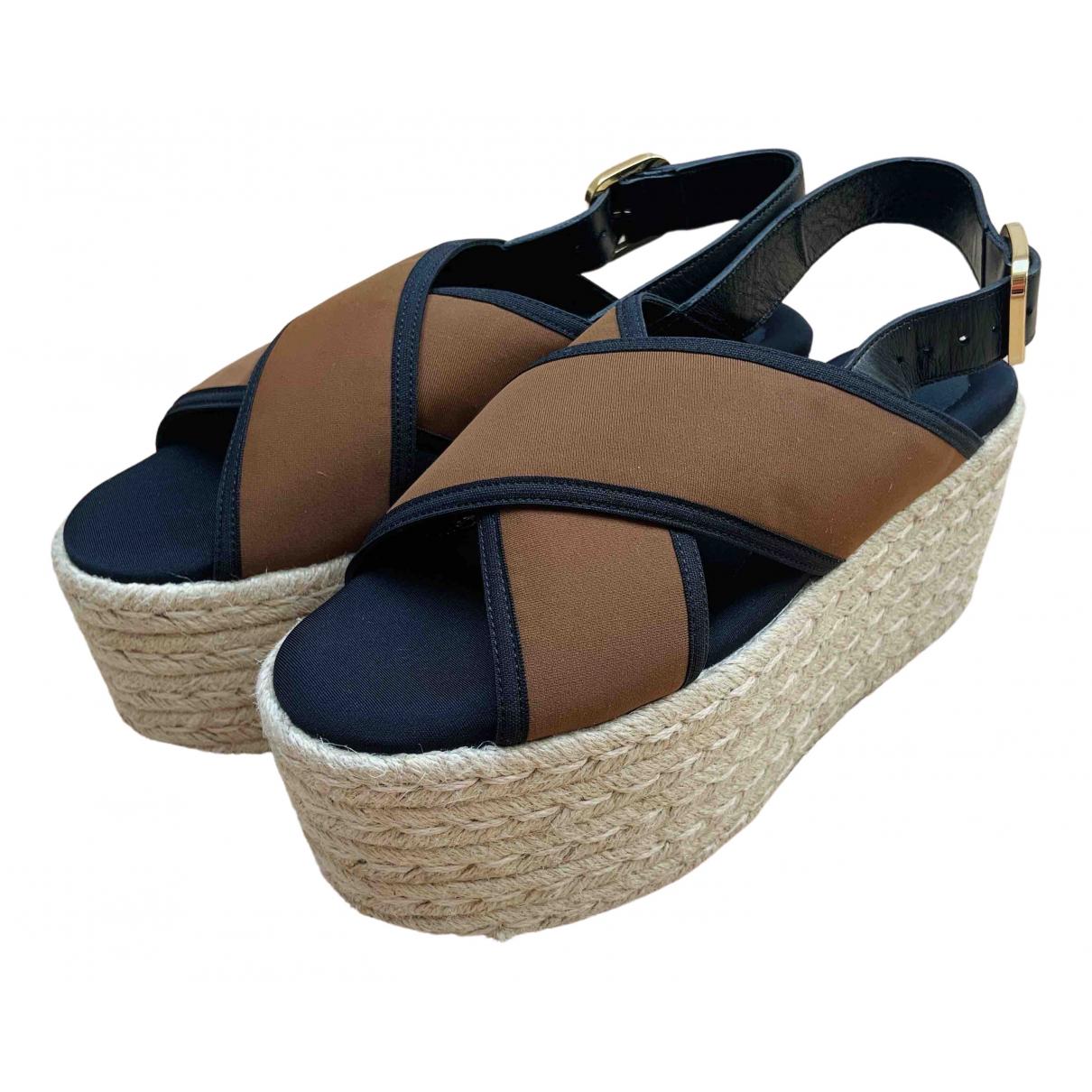Sandalias romanas de Cuero Marni