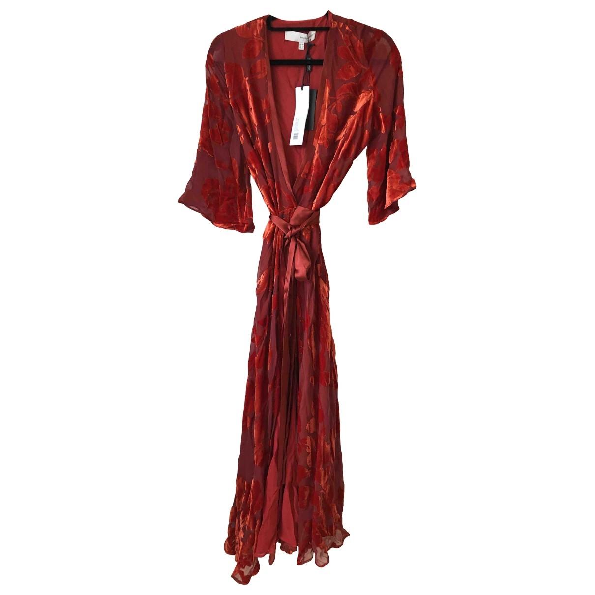 Galvan London - Robe   pour femme en soie - rouge