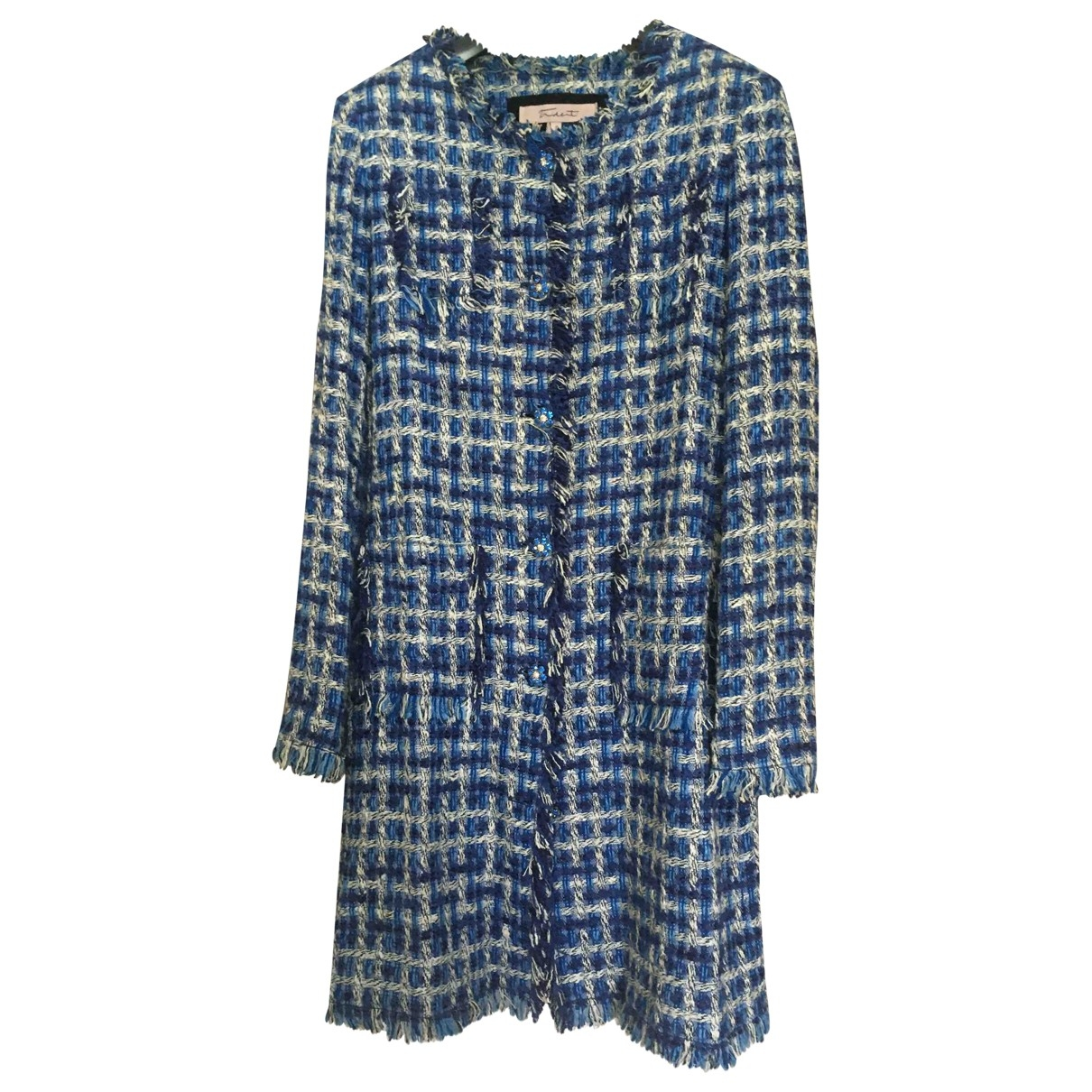 Non Signé / Unsigned \N Blue Cotton jacket for Women 42 IT