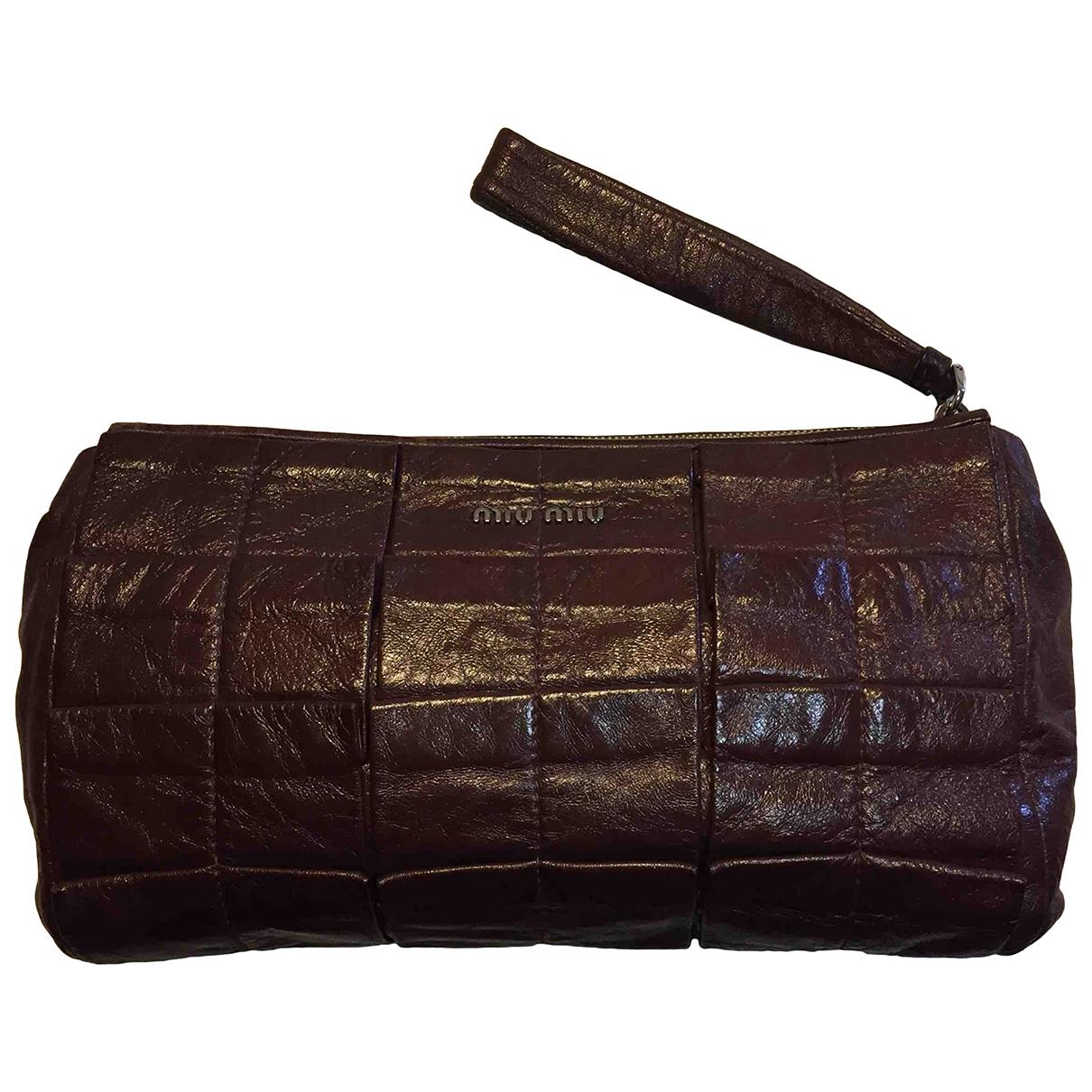 Miu Miu \N Brown Leather Clutch bag for Women \N