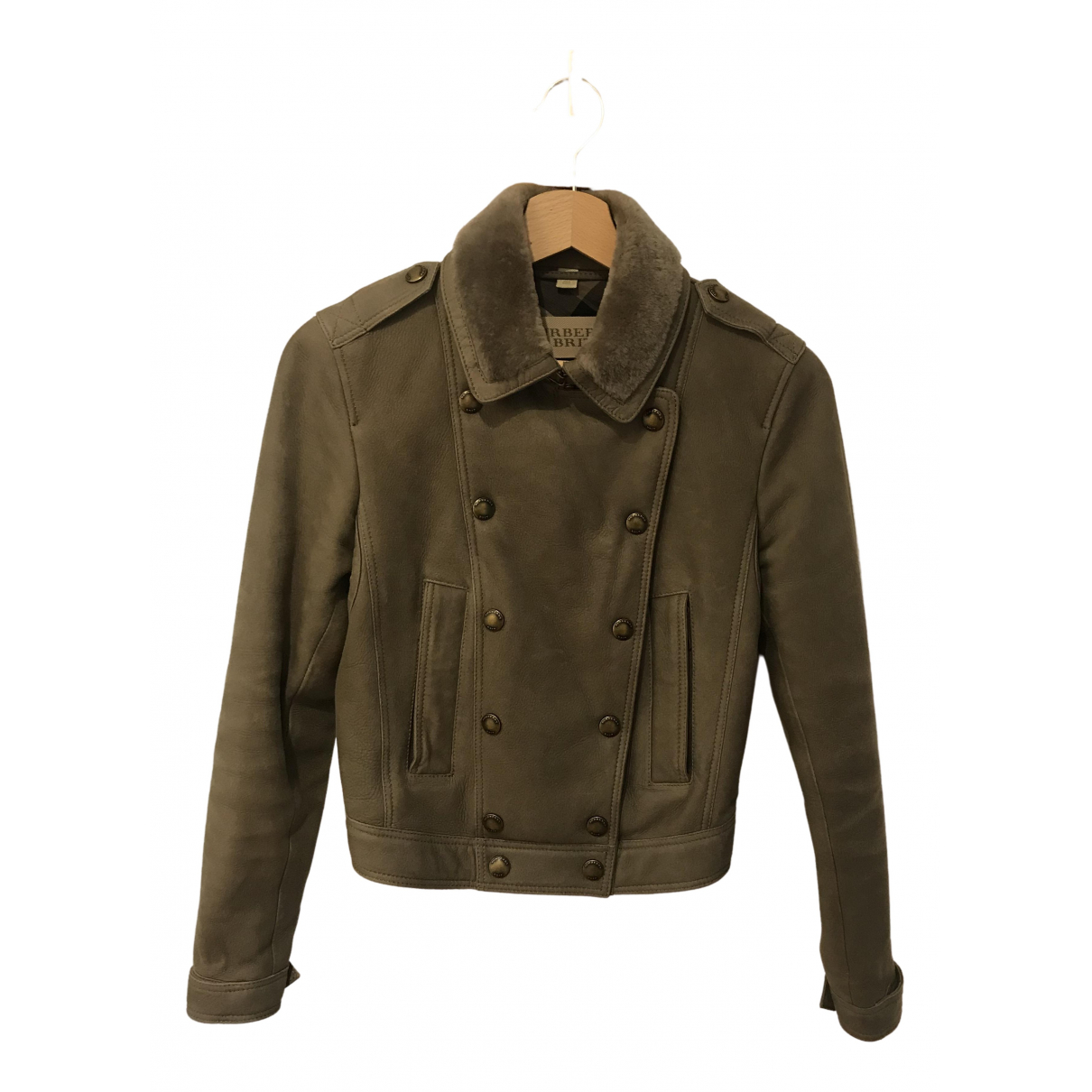 Burberry \N Shearling Leather jacket for Women S International