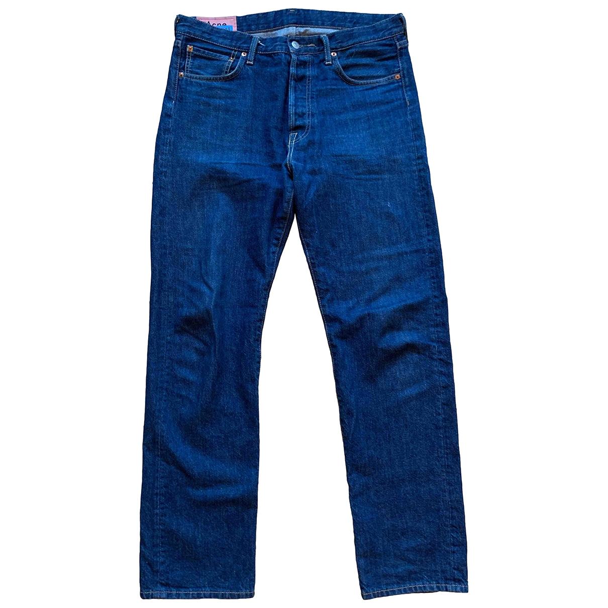 Acne Studios \N Blue Cotton Jeans for Men 32 US