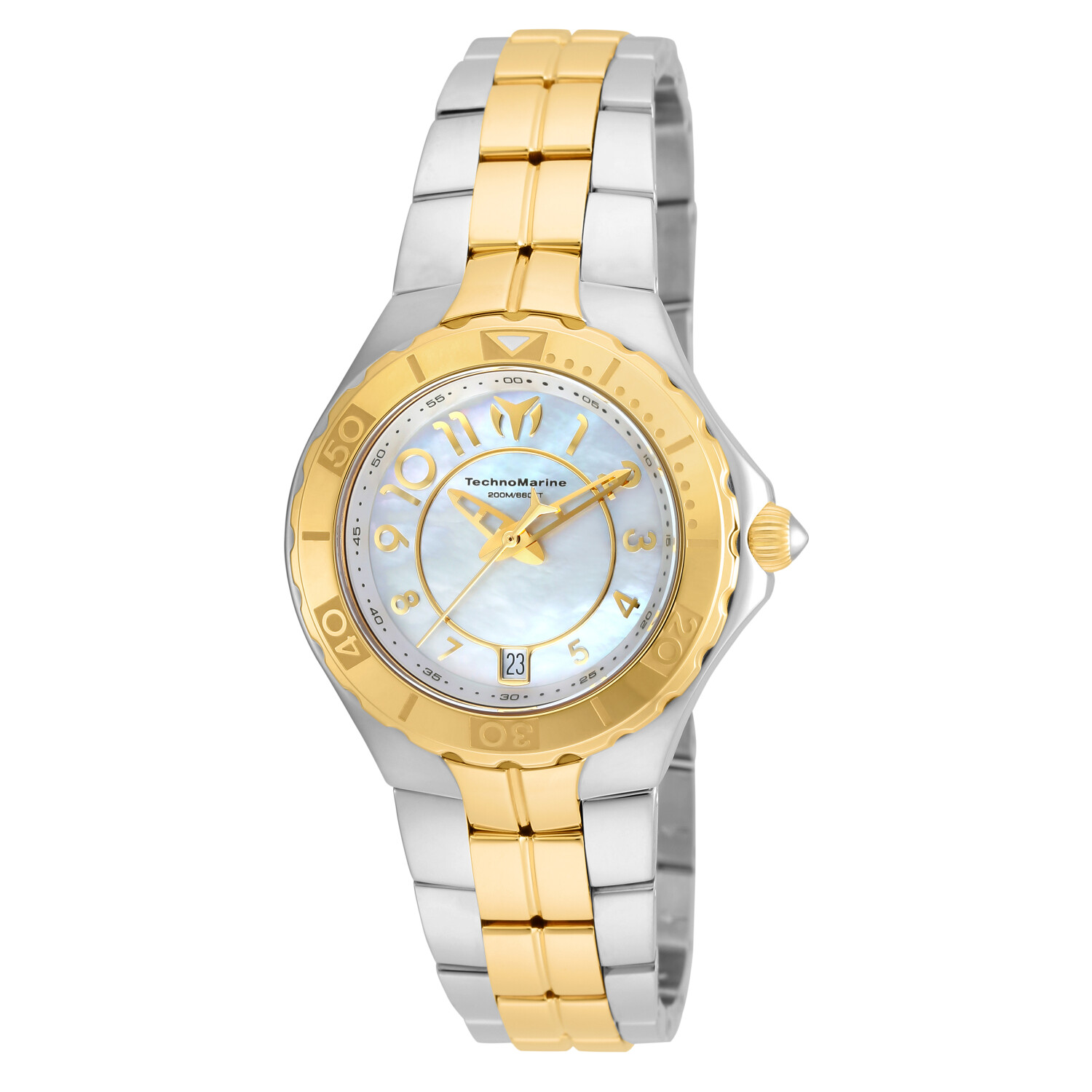 Technomarine Womens Sea Pearl TM-715008 Gold Stainless-Steel Quartz Sport Watch