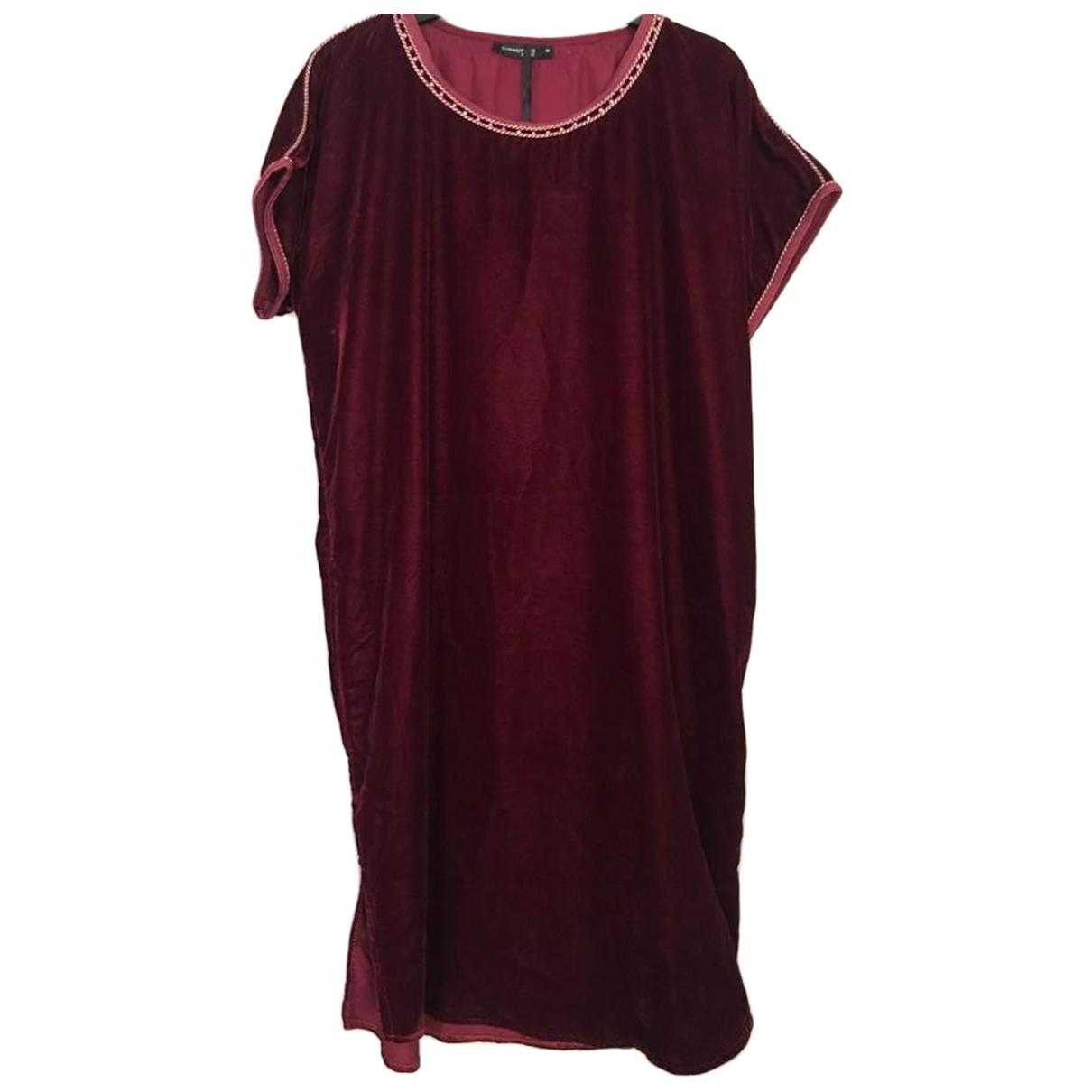 Non Signé / Unsigned \N Burgundy Velvet dress for Women 38 FR