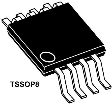 STMicroelectronics TSV358IPT , Op Amp, RRIO, 1.4MHz, 3 V, 5 V, 8-Pin TSSOP (10)