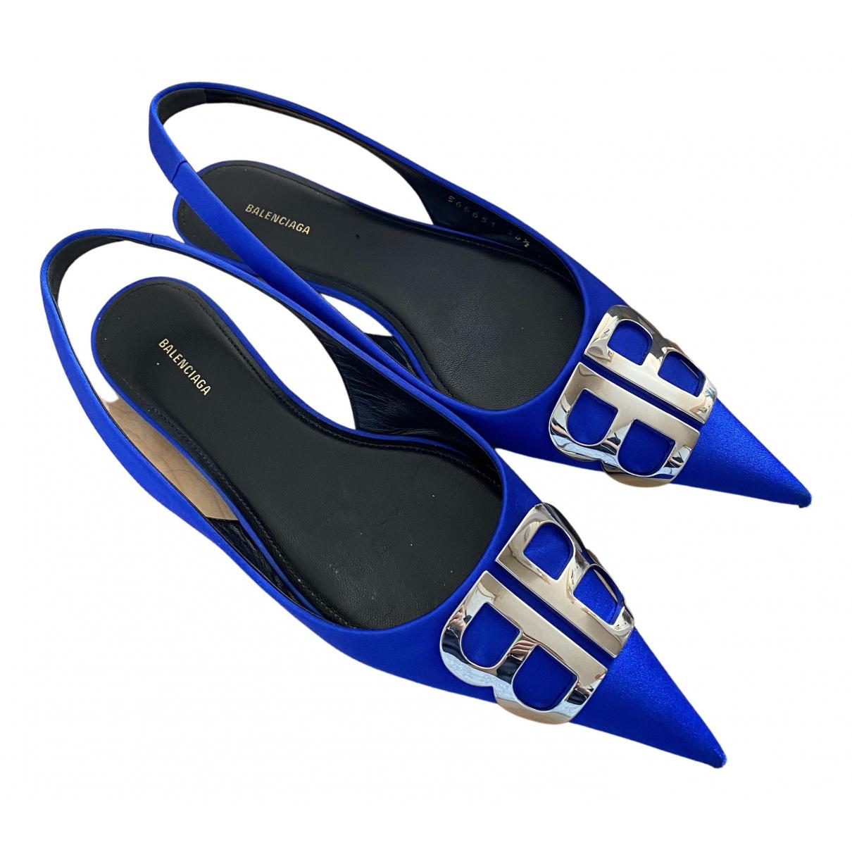 Balenciaga - Ballerines   pour femme en toile - bleu
