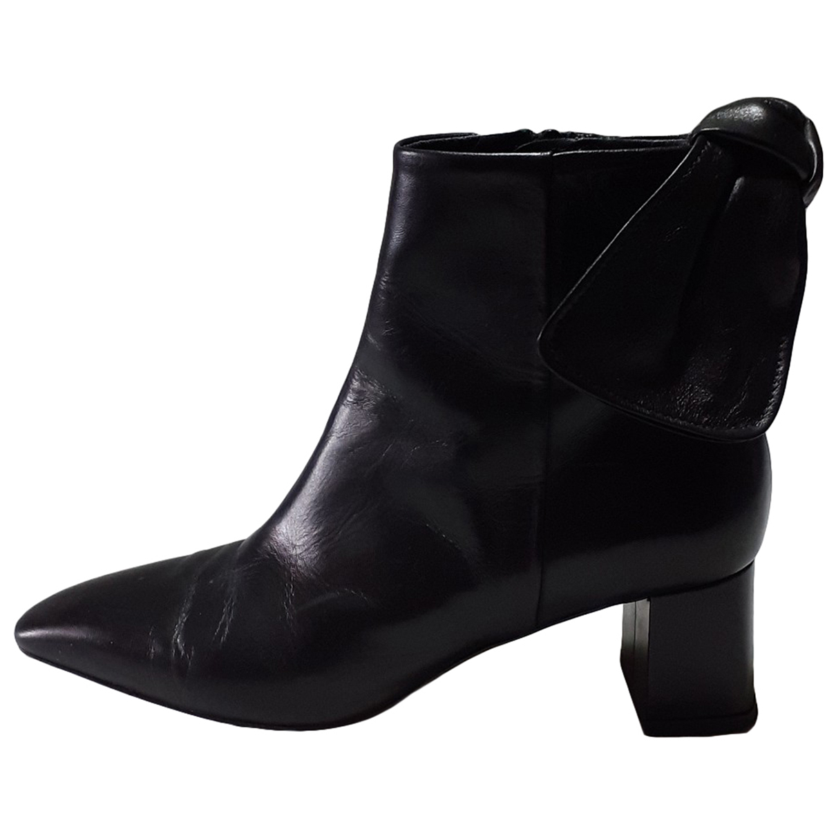 Uterque N Black Leather Boots for Women 35 EU