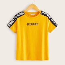 Camiseta de niños con estampado de letra