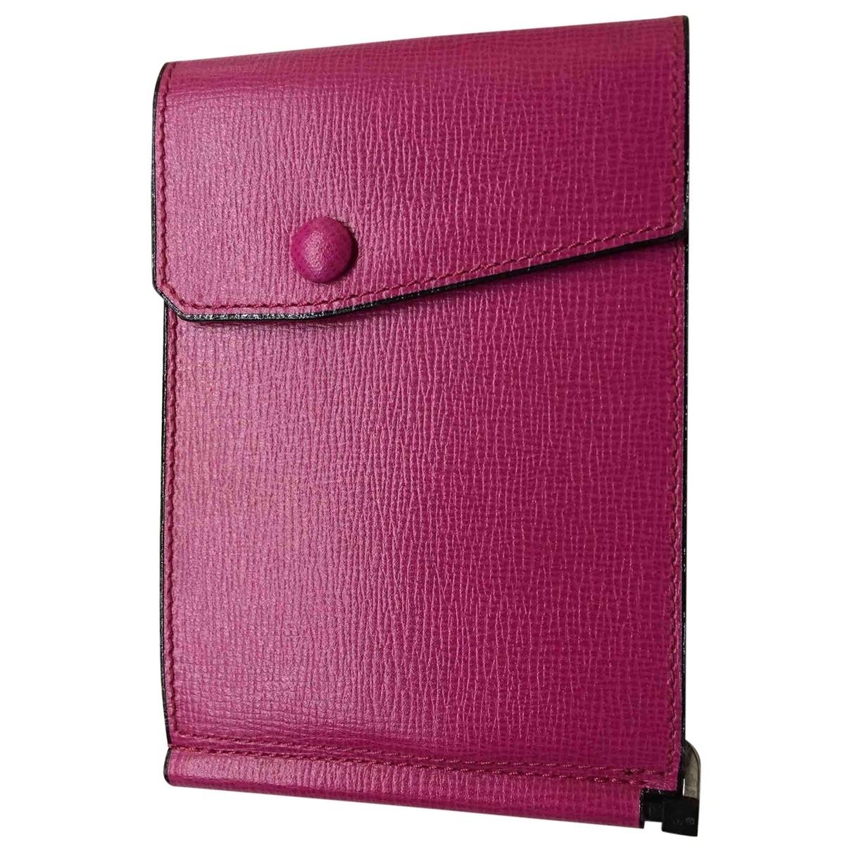 Valextra - Portefeuille   pour femme en cuir - rose