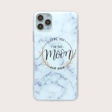 1pc Marble Print iPhone Case