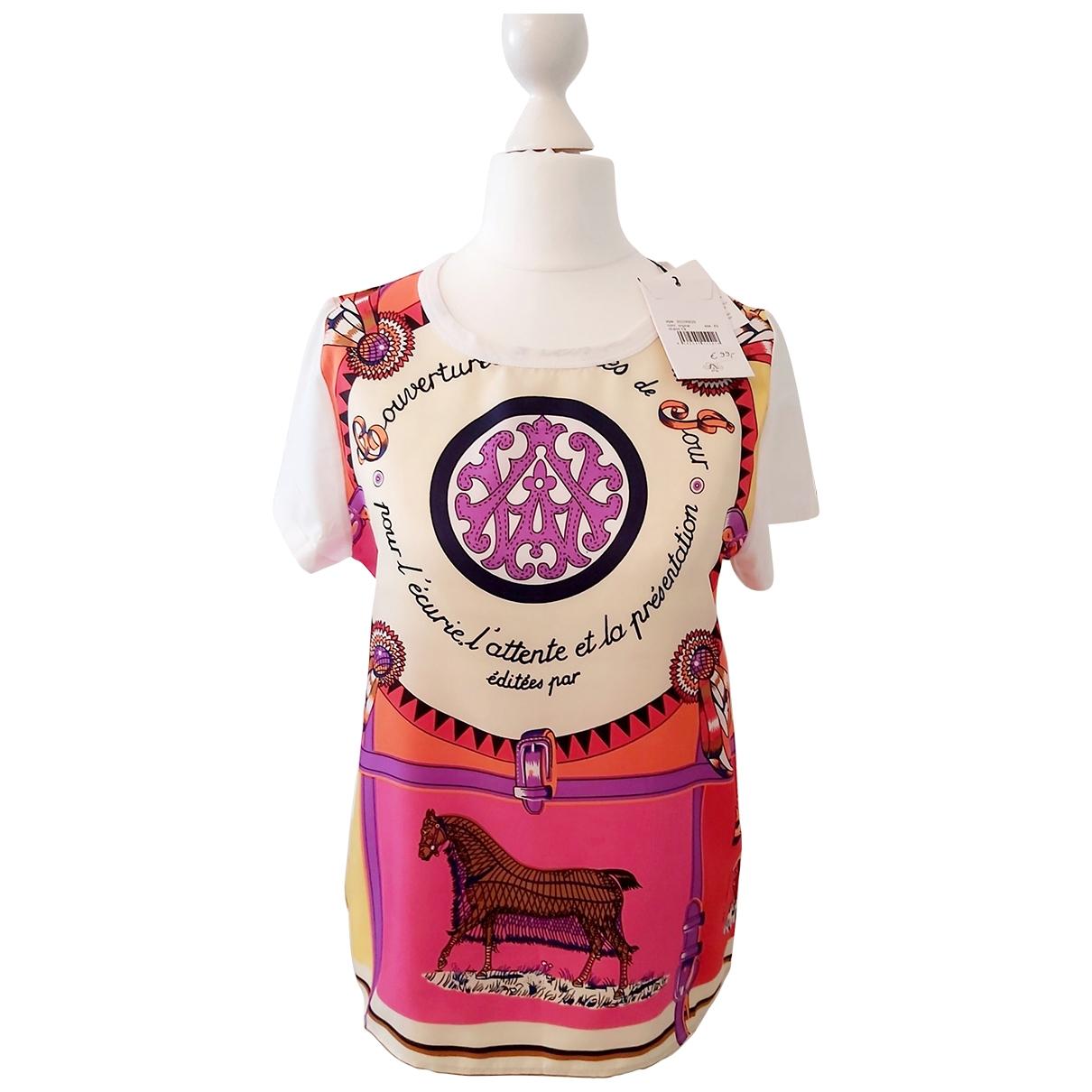 Allude - Top   pour femme en coton - multicolore