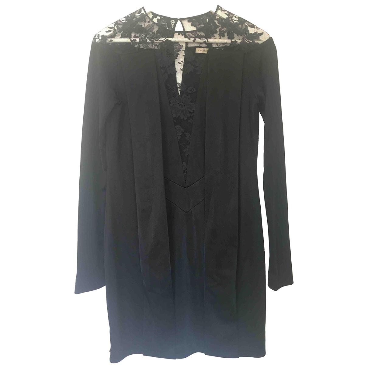 Balenciaga \N Kleid in  Schwarz Baumwolle - Elasthan