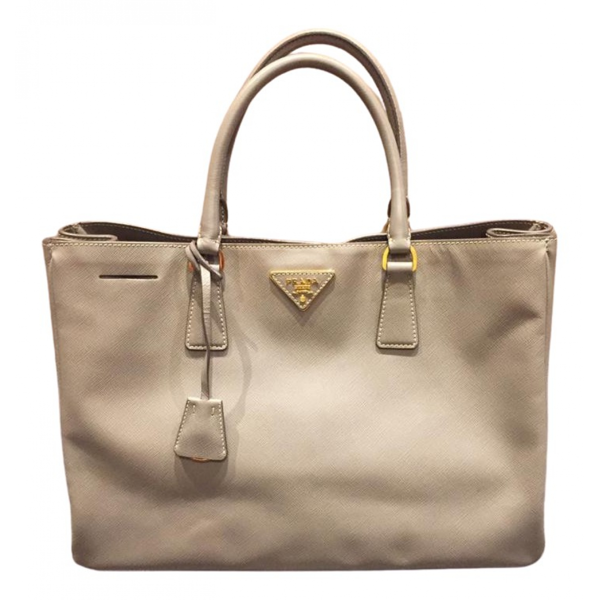 Prada saffiano  Grey Leather handbag for Women N