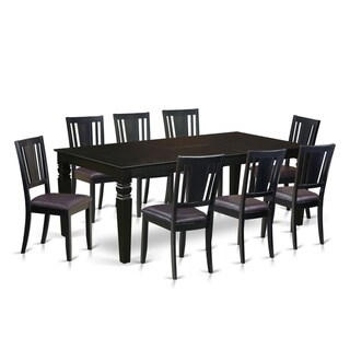 LGDU9-BLK  9 Pc Dinette set with a Dining Table and 8 Dining Chairs (Faux leather)