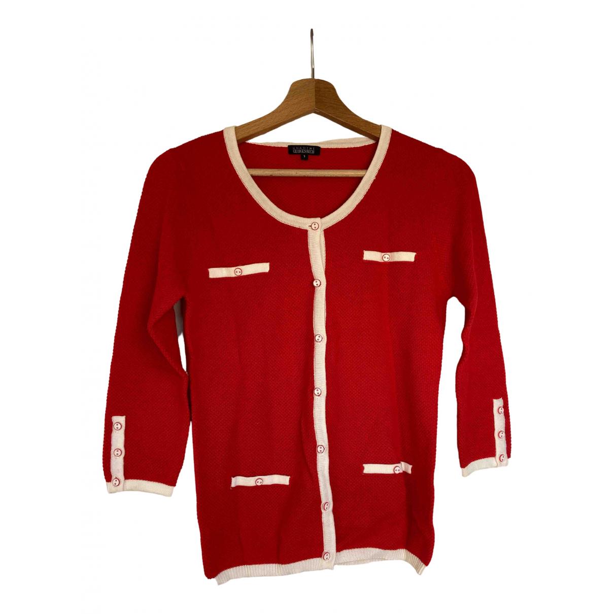 Georges Rech - Pull   pour femme en coton - rouge