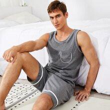 Conjunto de pijama con bolsillo