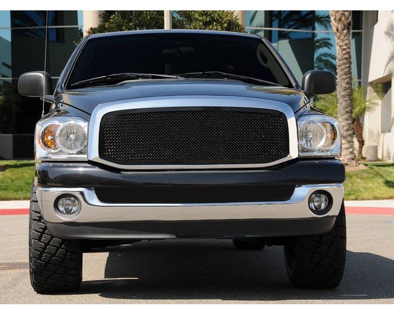 Dodge Upper Class Grille, Black, 1 Pc, Insert, Full Opening - PN #51459