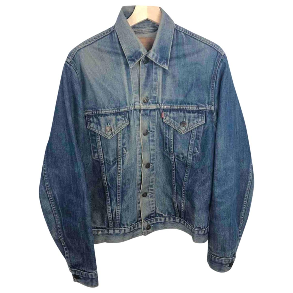 Levis Vintage Clothing - Veste   pour femme en coton - marine