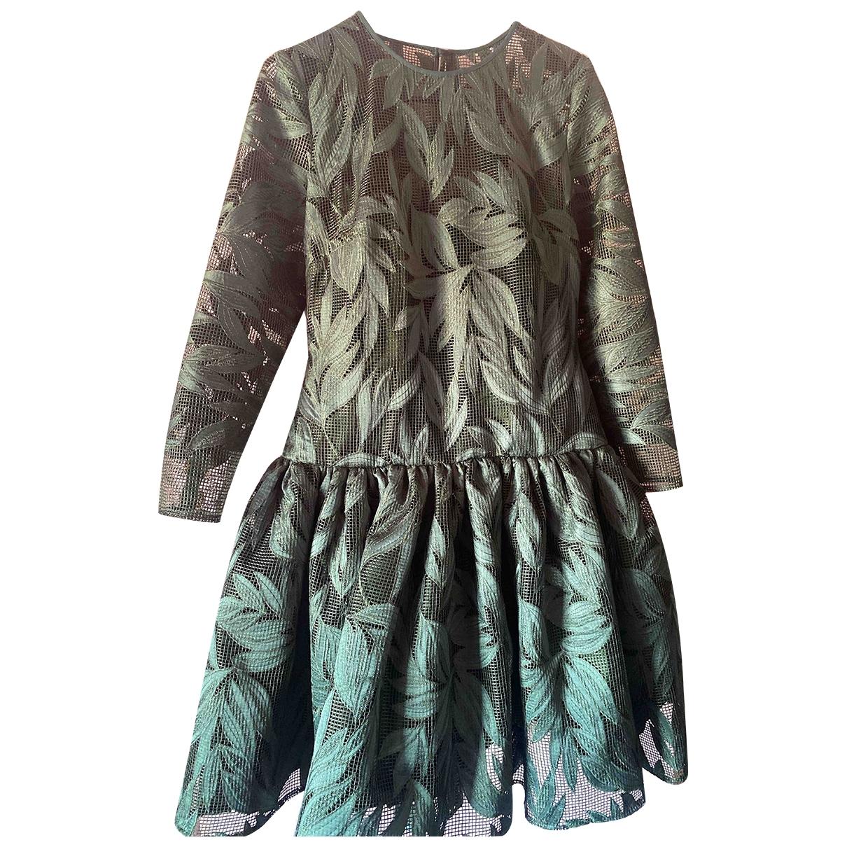 Matilde Cano \N Kleid in  Gruen Spitze