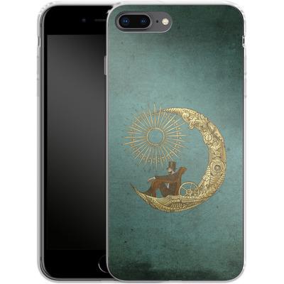 Apple iPhone 8 Plus Silikon Handyhuelle - Moon Travel von Eric Fan