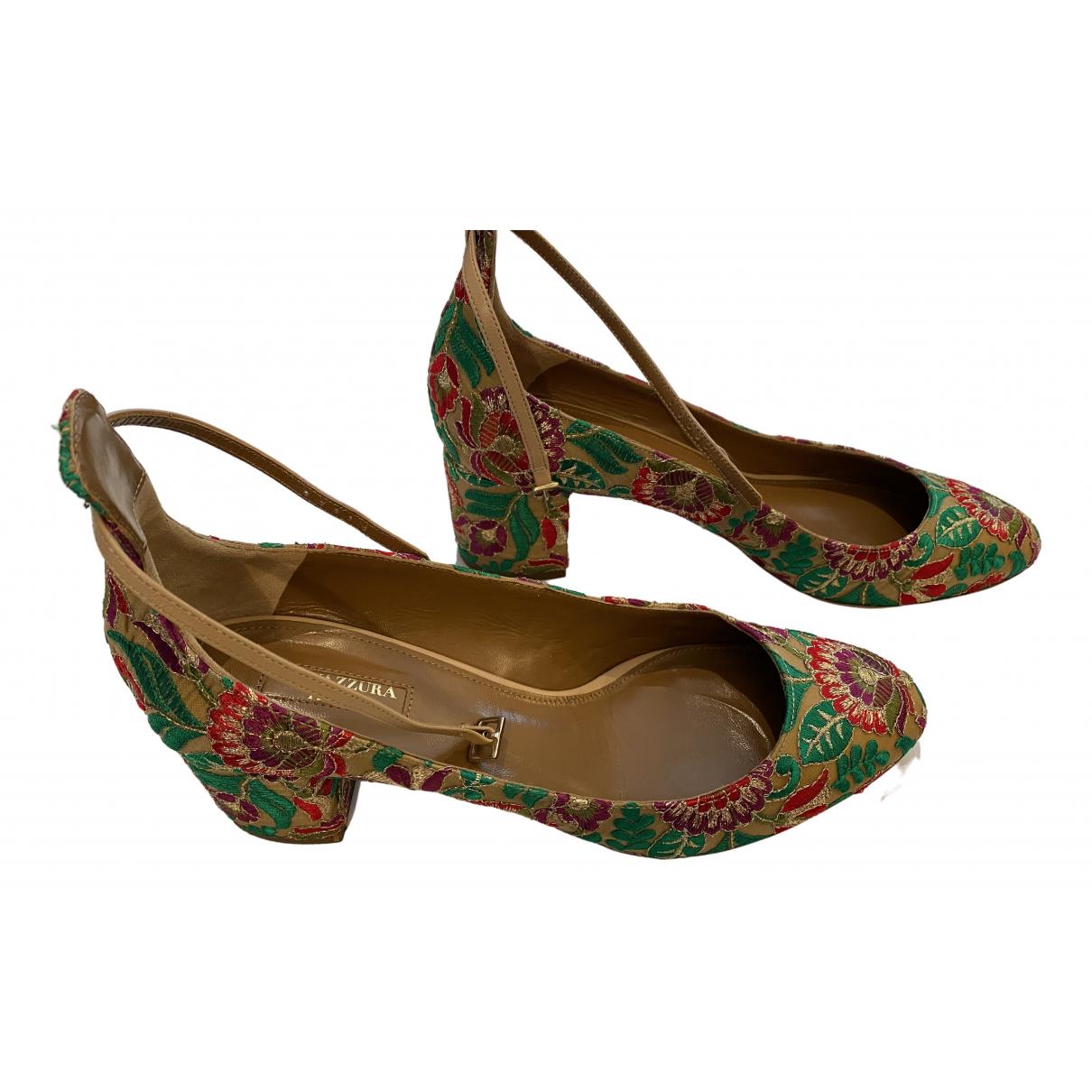 Aquazzura \N Beige Cloth Heels for Women 40.5 EU