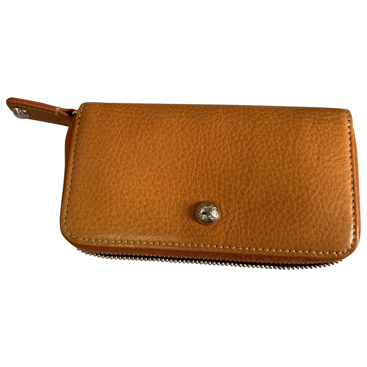 Tod's \N Orange Leather Purses, wallet & cases for Women \N