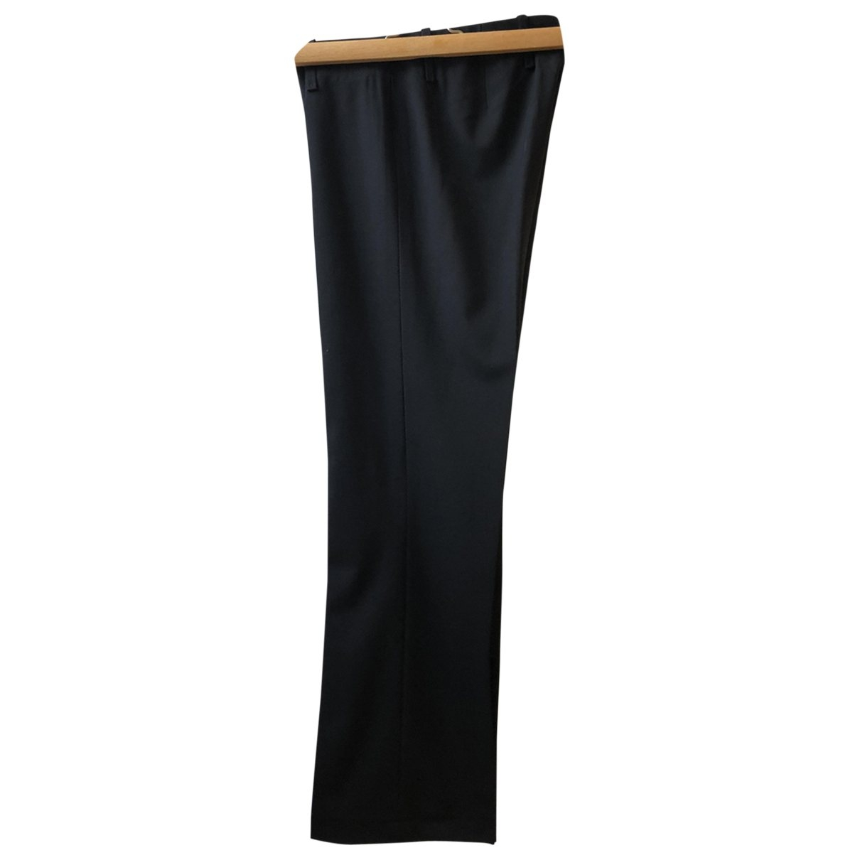 Pantalon recto de Lana Boss