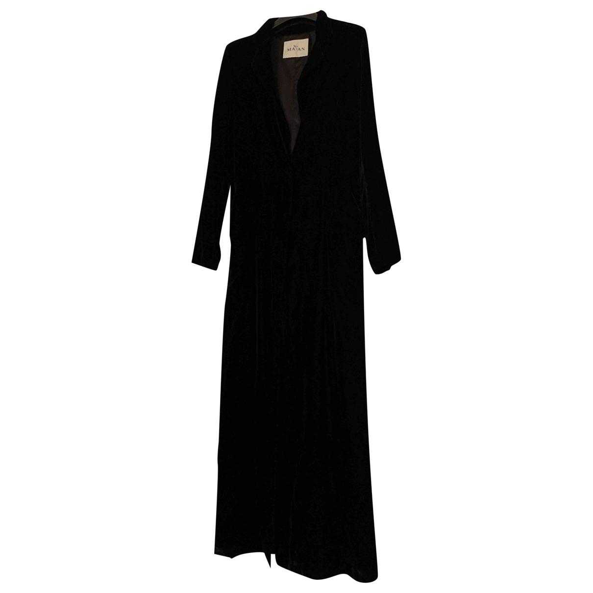 Maan - Manteau   pour femme en velours - noir