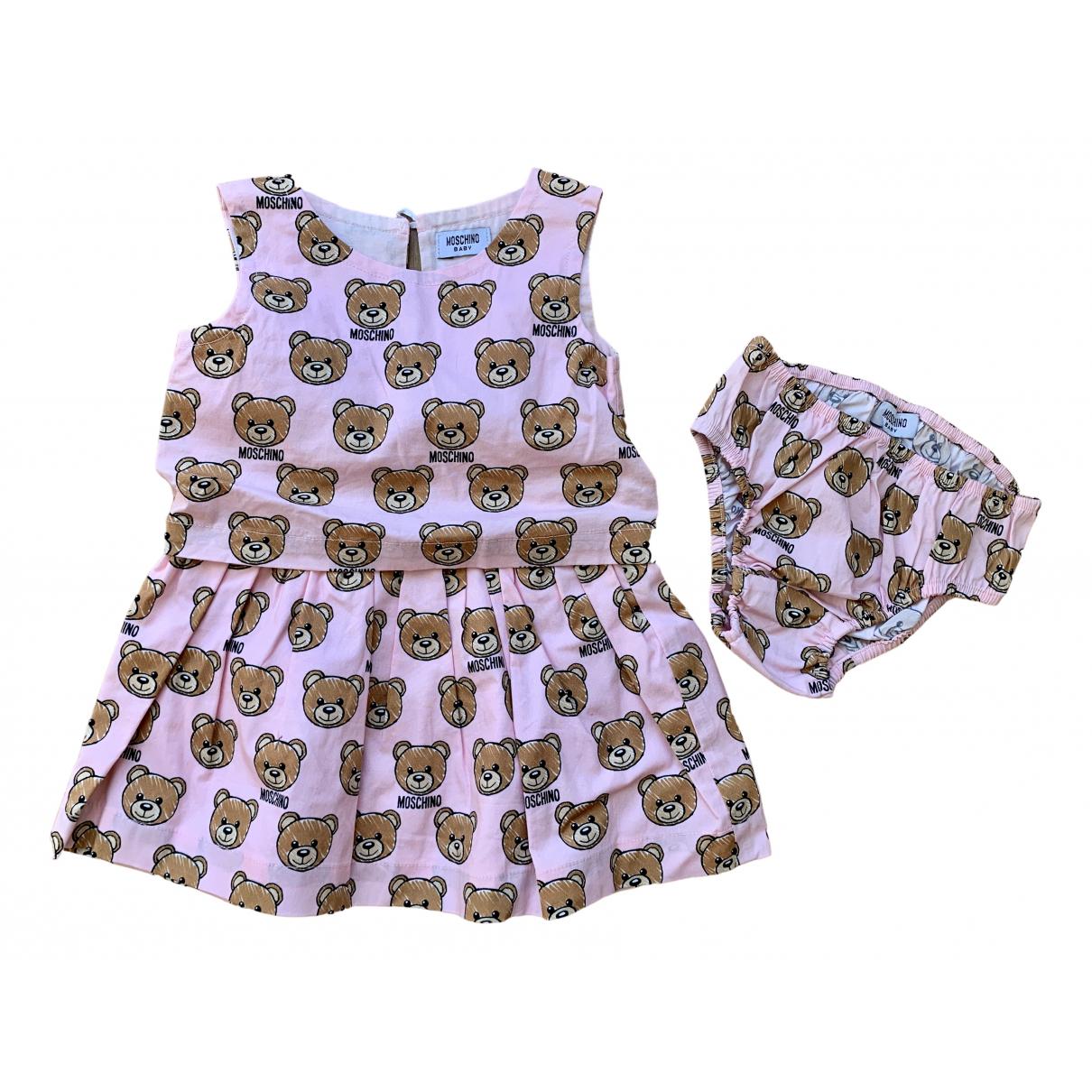 Moschino - Robe    pour enfant en coton - rose
