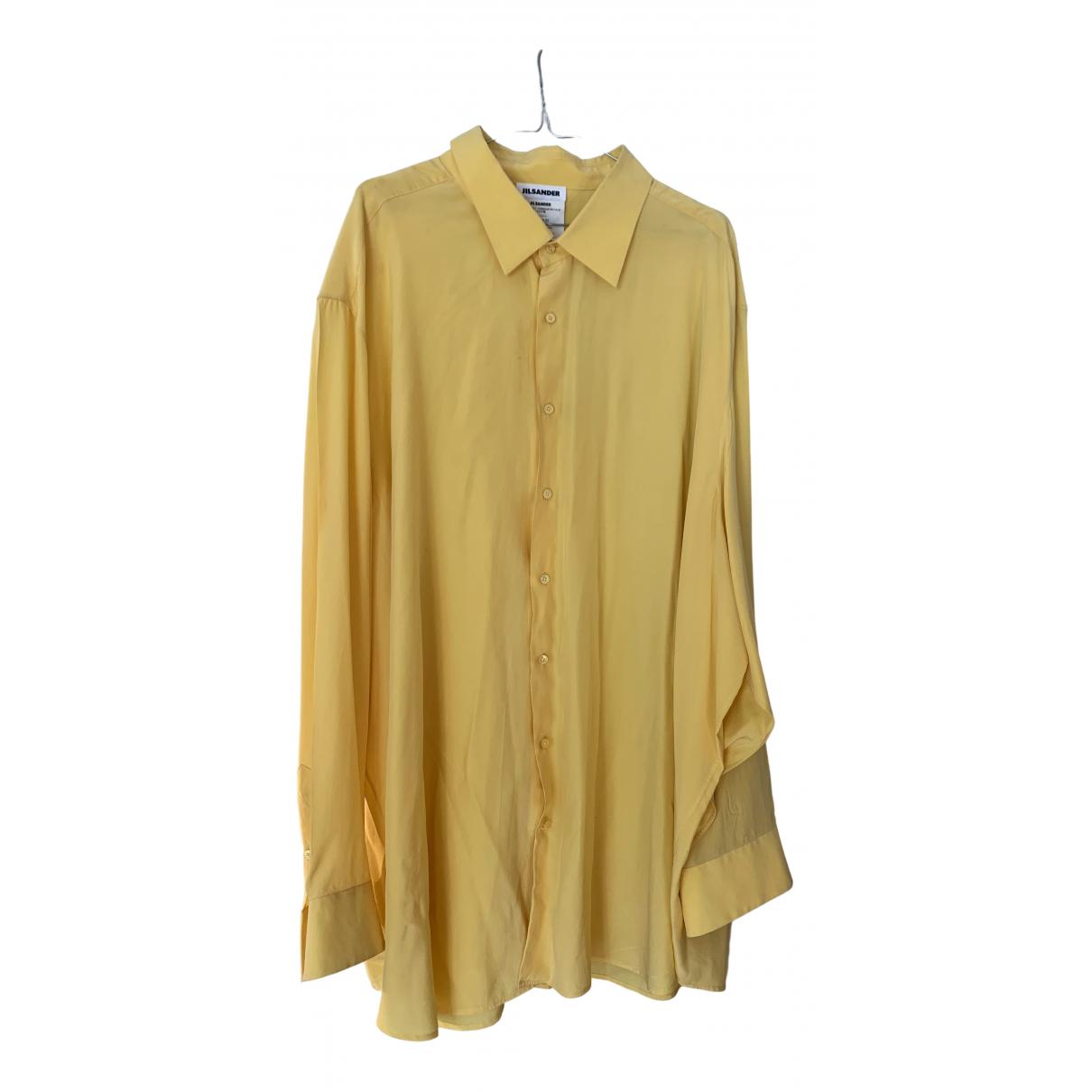 Jil Sander \N Kleid in  Gelb Seide