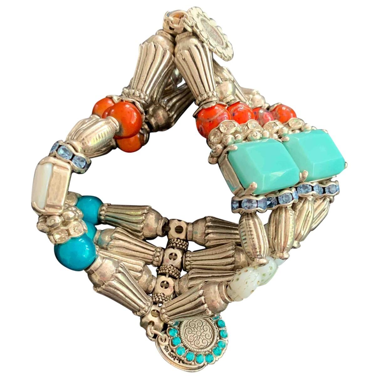 - Bracelet   pour femme en perles - argente