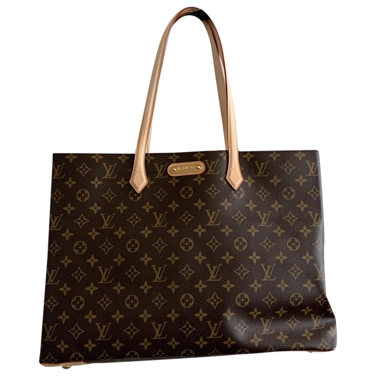 Louis Vuitton - Sac a main Wilshire pour femme en toile - marron
