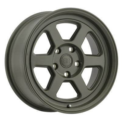 Black Rhino Rumble Wheel, 15x7 with 5 on 4.5 Bolt Pattern - Olive Drab Green - 1570RBL155114N76