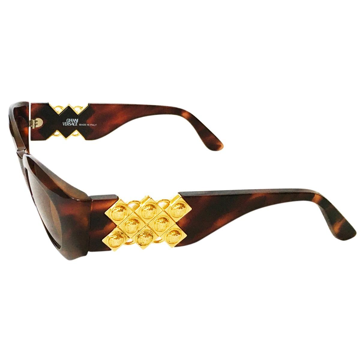 Gianni Versace N Brown Sunglasses for Women N
