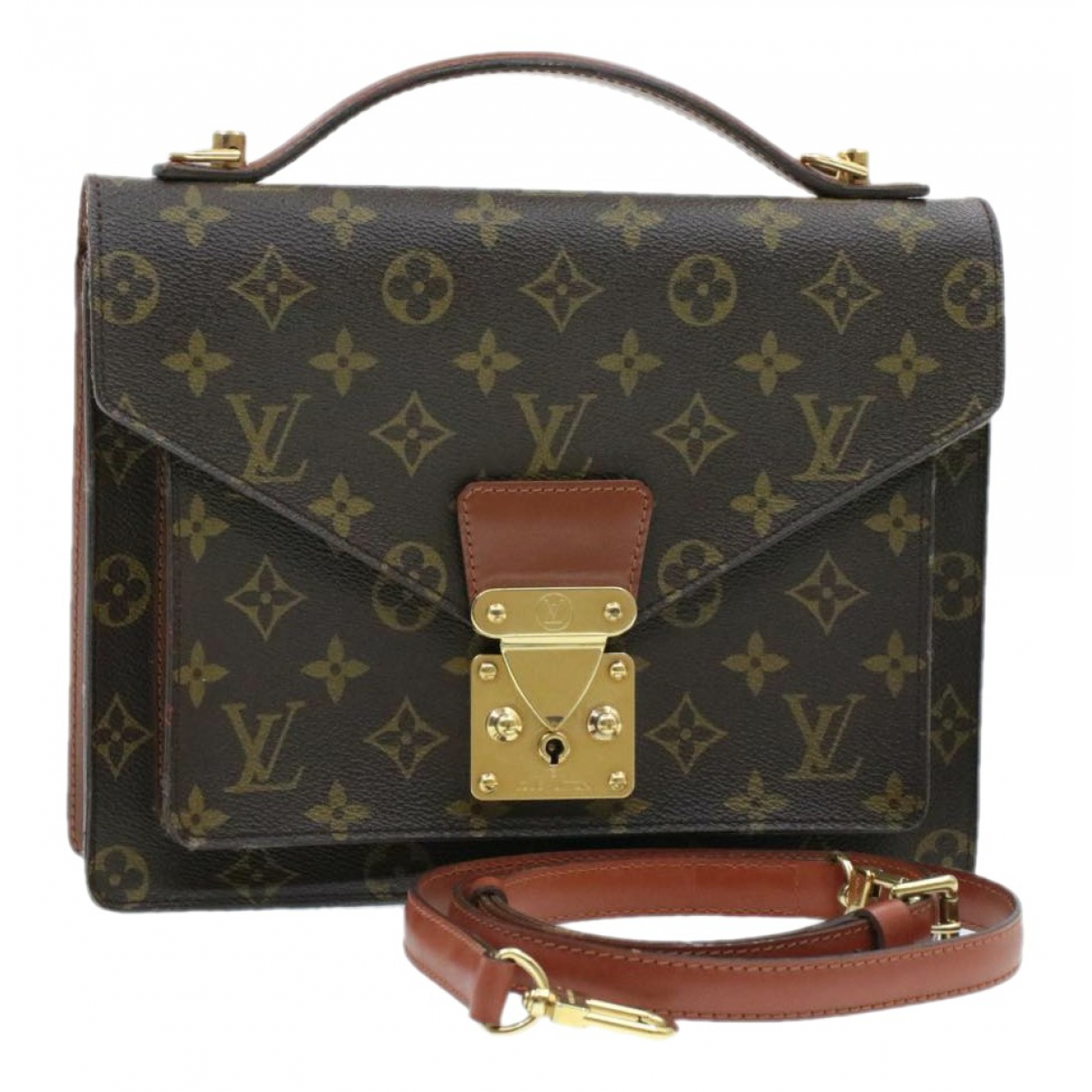 Louis Vuitton Monceau Brown Cloth handbag for Women \N