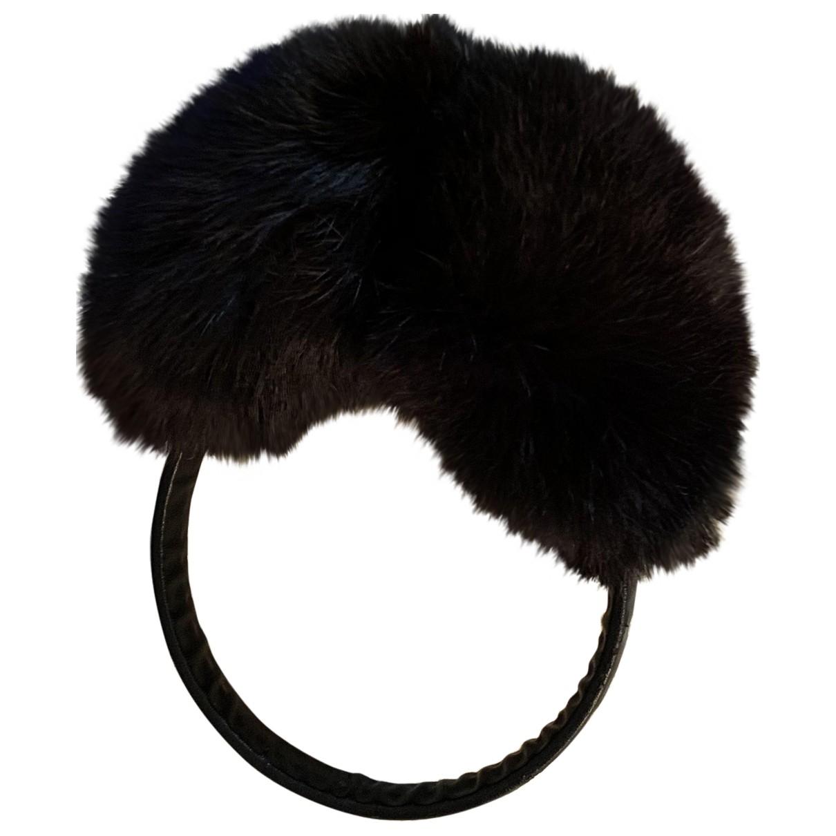 Pellicciai \N Black Rabbit hat for Women S International