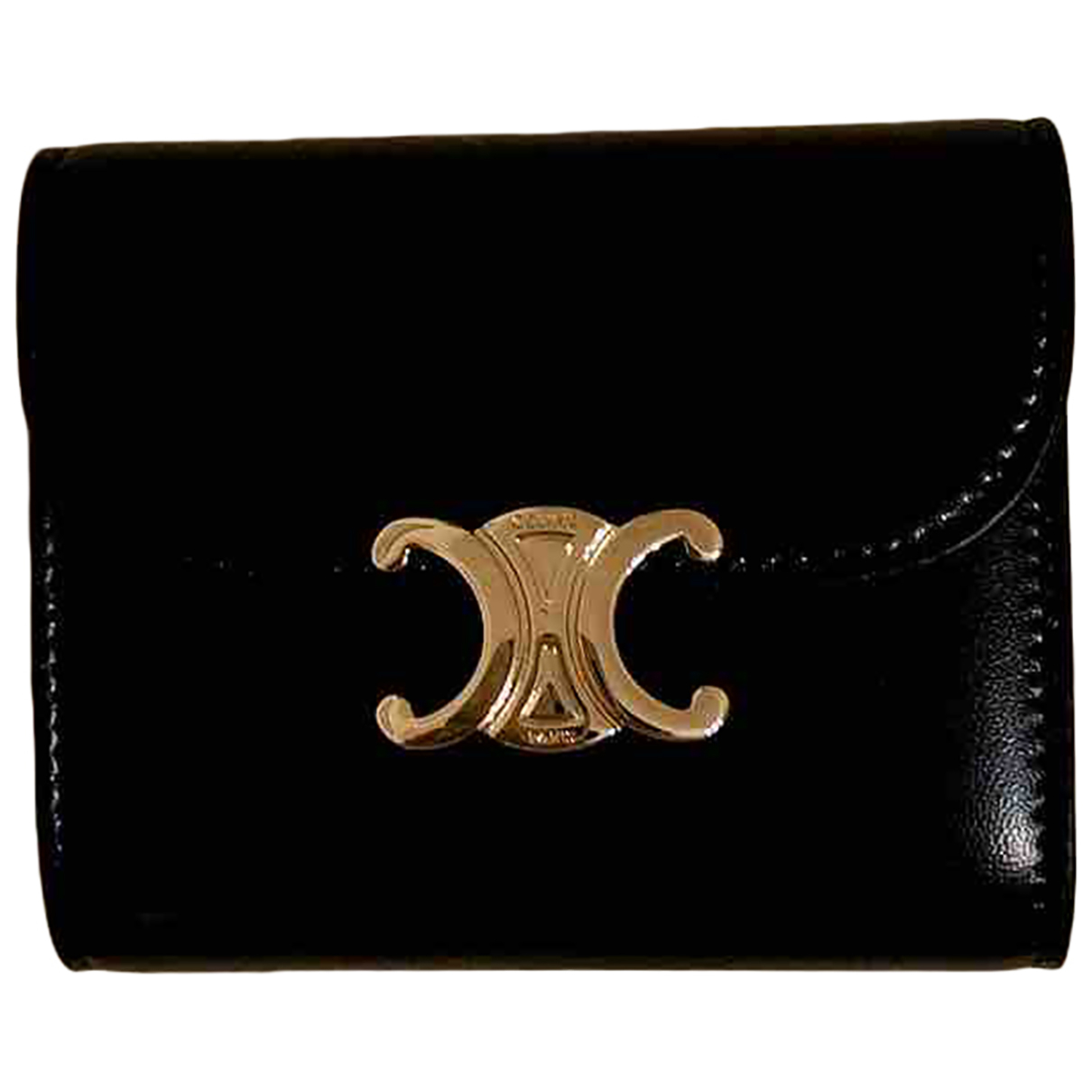 Celine \N Black Leather wallet for Women \N