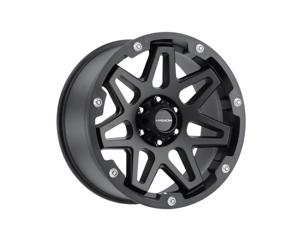Vision Se7en Gloss Black Milled w/Satin Grey Ring Wheel 20x9 5x139.7 12mm