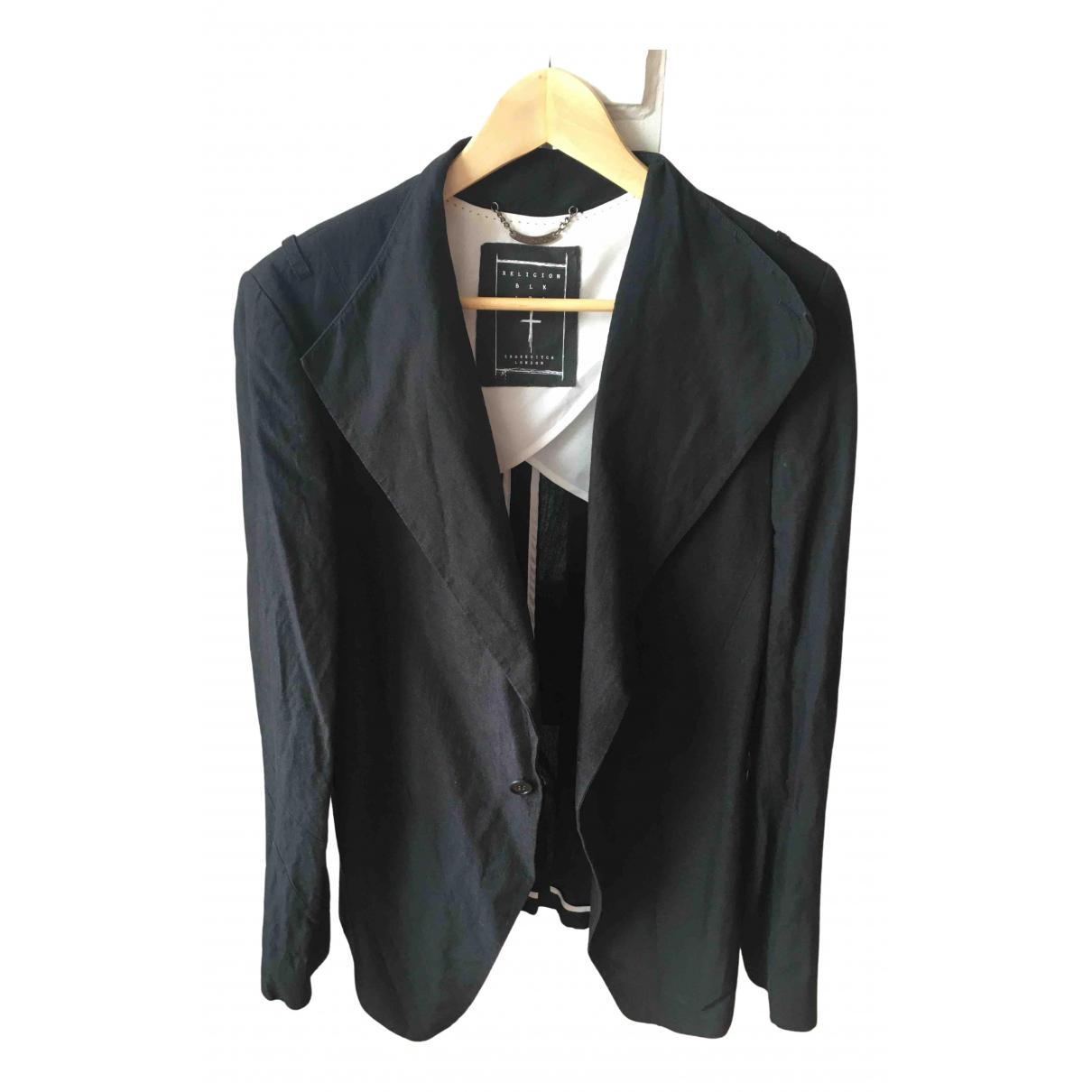 Religion N Black Cotton jacket  for Men M International