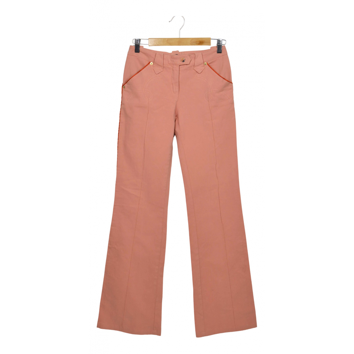 Roberto Cavalli N Pink Cotton Trousers for Women 40 IT